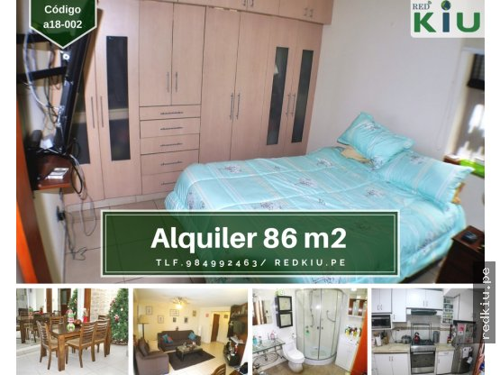 a18002 Alquiler Amoblado San Borja 86m / 2hab