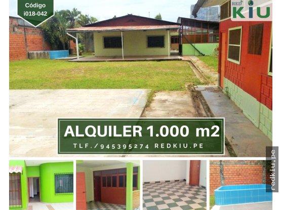 i018042 Casa en Alquiler 1000 M2 Yarinacocha