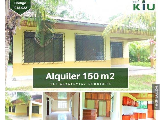 i018022 Casa en Alquiler 150 M2 Yarinacocha