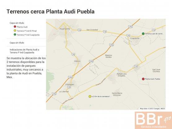 terrenos en venta Puebla Audi
