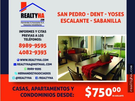 Casas, Condominios y Apartamentos