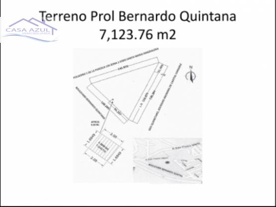 TERRENO COMERCIAL EN PROL. B. QUINTANA