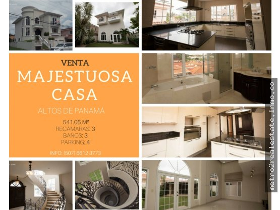 Majestuosa casa en Altos de Panamá