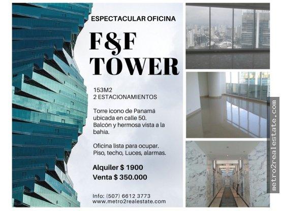 ESPECTACULAR OFICINA EN F&F TOWER. (El tornillo)