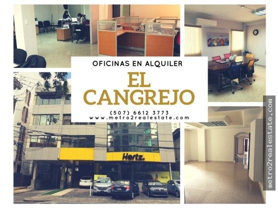 VARIAS OFICINAS EN EL CANGREJO. (Alquiler)