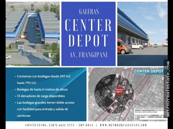 CENTER DEPOT GALERAS/ BODEGAS. Av. Frangipani