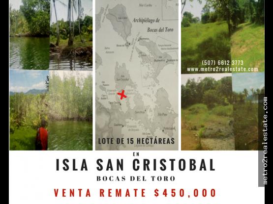 LOTE EN ISLA SAN CRISTOBAL. Bocas del toro