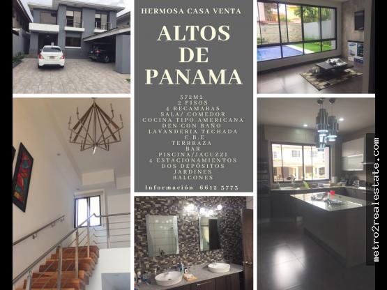 HERMOSA CASA EN ALTOS DE PANAMÁ. Venta