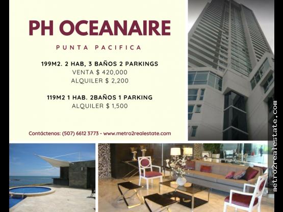 PH OCEANAIRE. Punta Pacifica. Alquiler-Venta