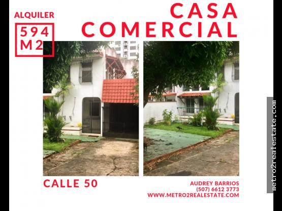 CASA COMERCIAL. Calle 50 (Alquiler)