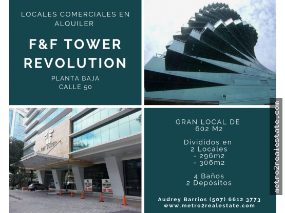 LOCALES EN F&F TOWER. Calle 50 (Alquiler)