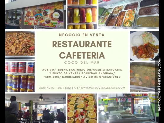 RESTAURANTE/ CAFETERIA EN VENTA. Coco del Mar