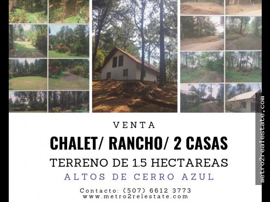 VENTA TERRENO CON CHALET. Altos de Cerro Azul