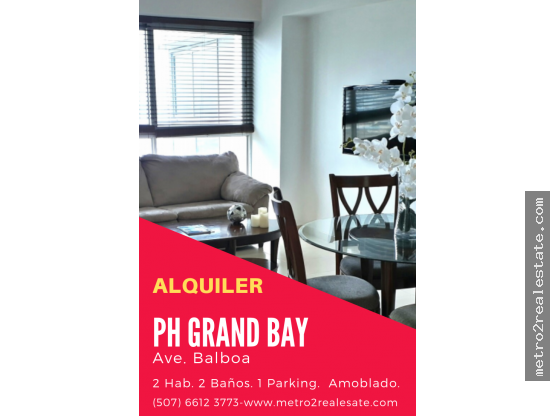 PH GRANDBAY TOWER, Ave. Balboa. (Alquiler)