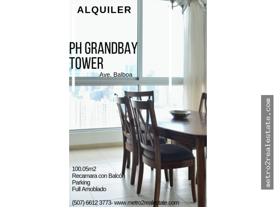 PH GRANDBAY TOWER. Ave. Balboa. (Alquiler)