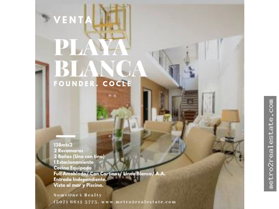 PH PLAYA BLANCA. Cocle. (Venta)