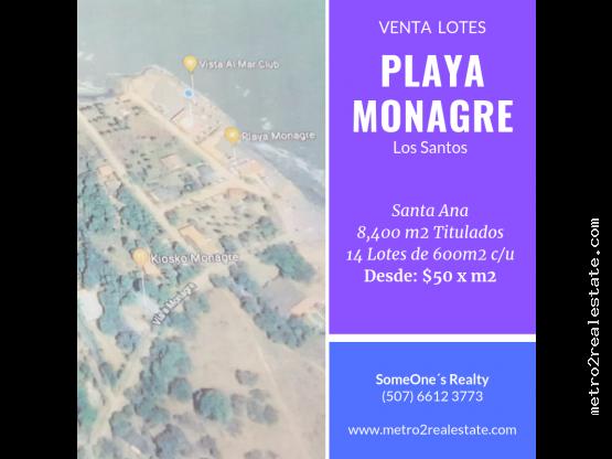 TERRENO EN PLAYA MONAGRE. Los Santos