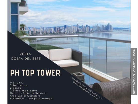 PH TOP TOWER. Costa el Este. (Venta)