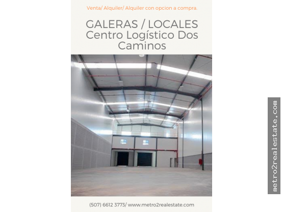 GALERAS CENTRO LOGÍSTICO DOS CAMINOS. (Mañanitas)