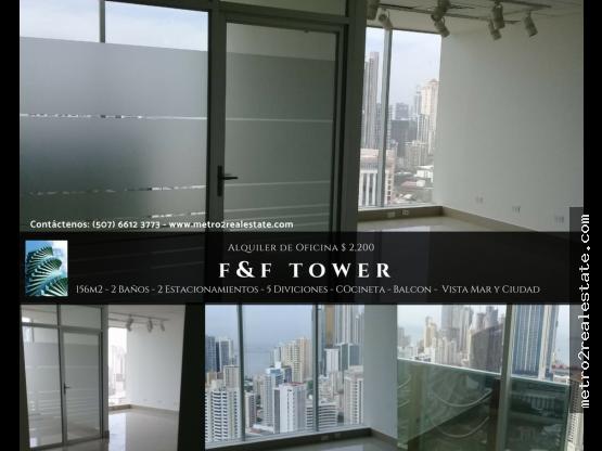 OFICINA F&F TOWER. Calle 50 - Alquiler