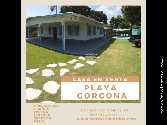CASA DE PLAYA. Nueva Gorgona (Venta)