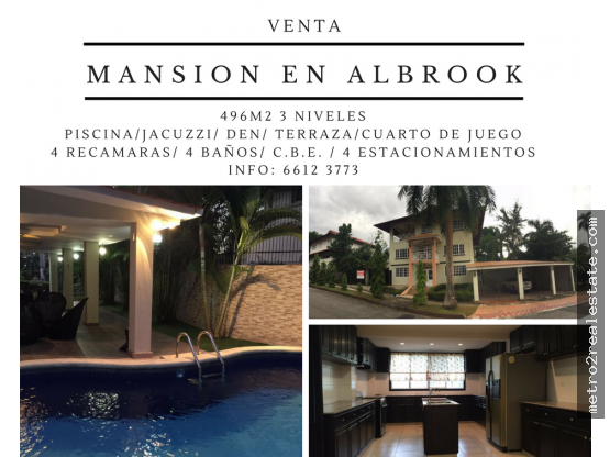 VENTA DE MANSION EN ALBROOK