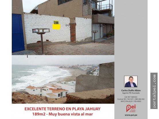 [Venta] Hermoso terreno Urb. Playa Jahuay