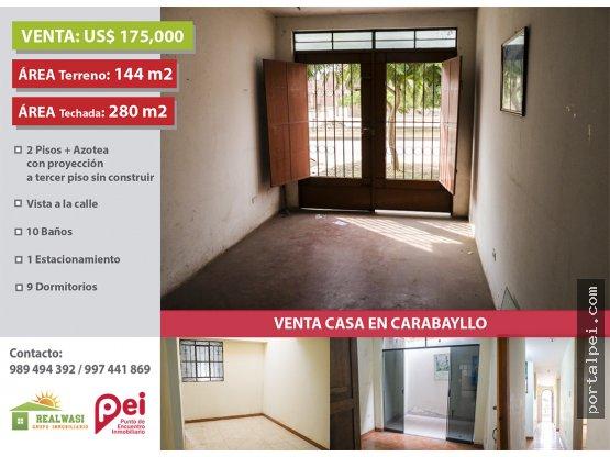 [Venta] Casa en Urb. Santo Domingo - Carabayllo