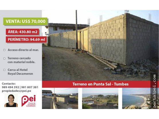 [Venta] Terreno urbano en Punta Sal