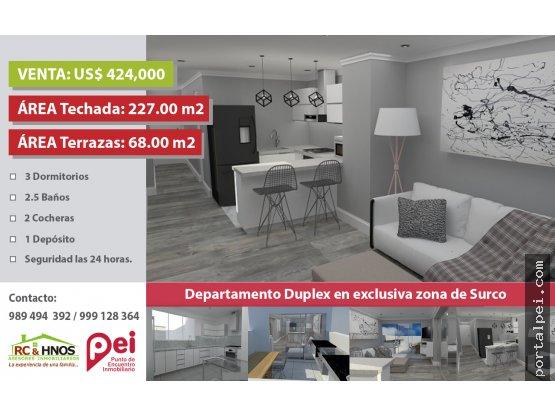 [Venta] Penthouse dúplex en Av. La Merced