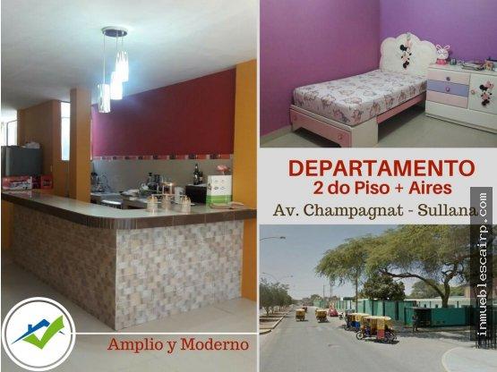 Departamento en 2do Piso - Sullana, Av Champagnat