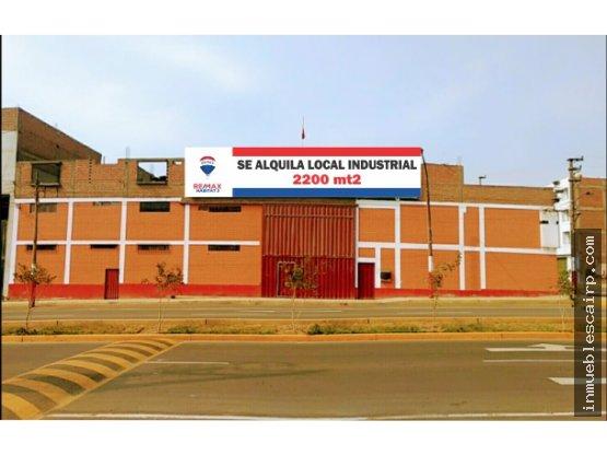 Alquilo local industrial en San Juan de Lurigancho