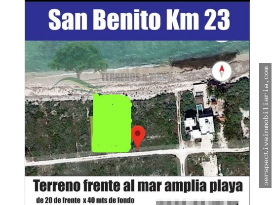 V1 TERRENO DE 800 M2 FRENTE A LA PLAYA SAN BENITO