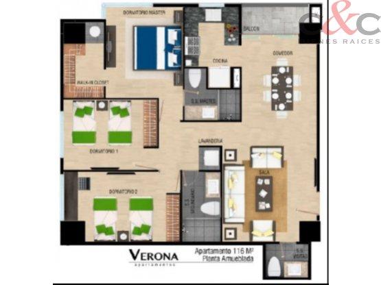 Apartamento Verona Zona 10 3/d Nuevo