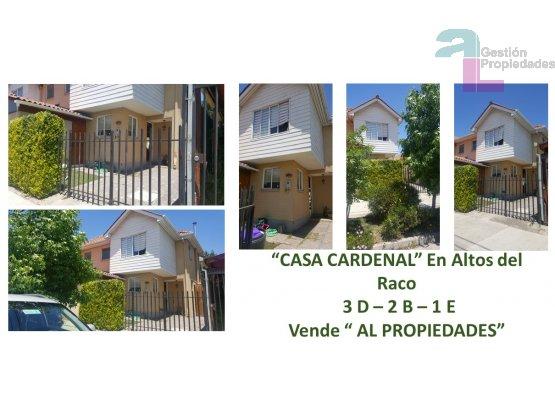 CASA CARDENAL  Altos del Raco Puente Alto