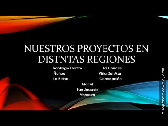 Proyectos Inmobiliarios Santiago y Regiones