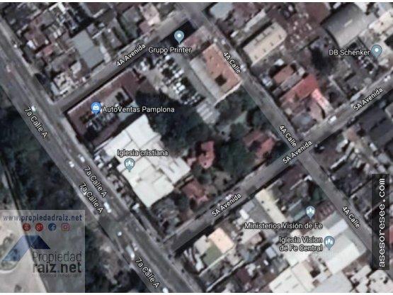 Alquiler de Terreno 2,275v²  Zona 13 Pamplona