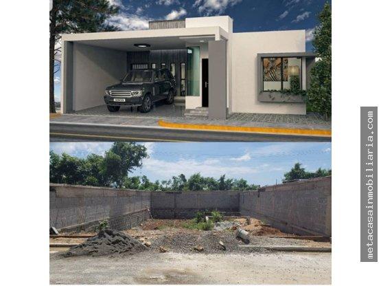Casa en construcción en Mirador del Este