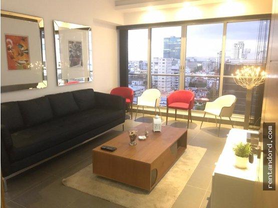Apartamento amueblado 2 habitaciones en Piantini