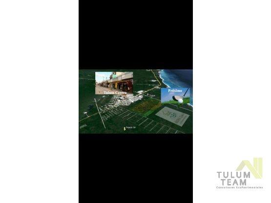Terreno ubicado en Tulum cerca de Aldea Zamá