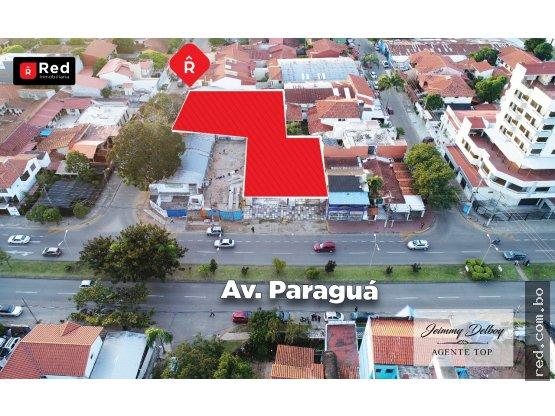 TERRENO EN VENTA SOBRE AV. PARAGUA