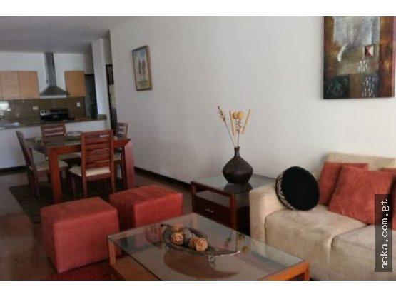 Apartamento en Renta zona 14, amueblado, 2 hab