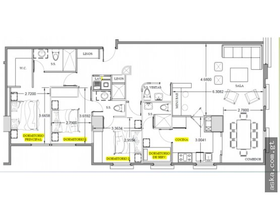 Precioso apartamento en Renta zona 15