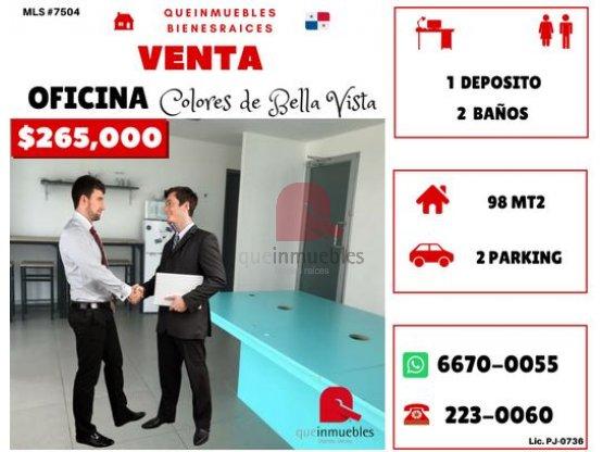 Venta de Oficina en Colores de Bella Vista Panamá