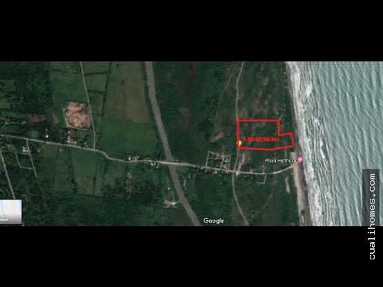 venta - hermoso terreno de 7.32 Has frente al mar