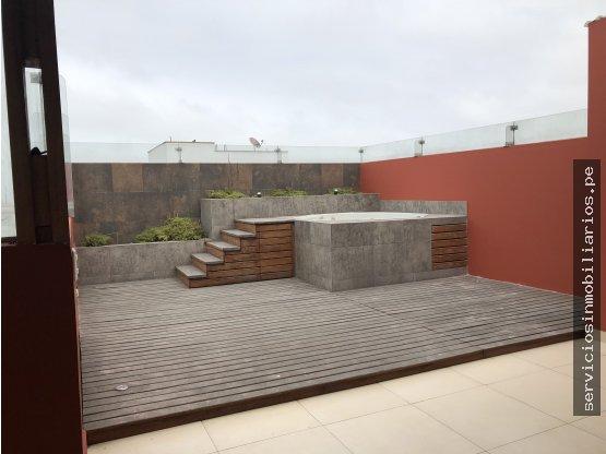 Duplex con terraza y jacuzzi en Miraflores