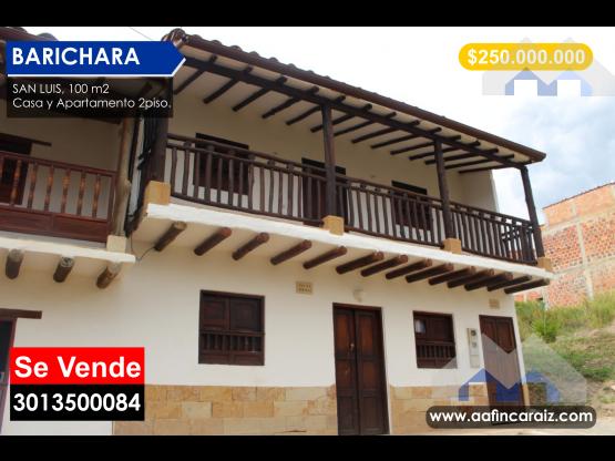 Vendo Casa en San Luis Barichara