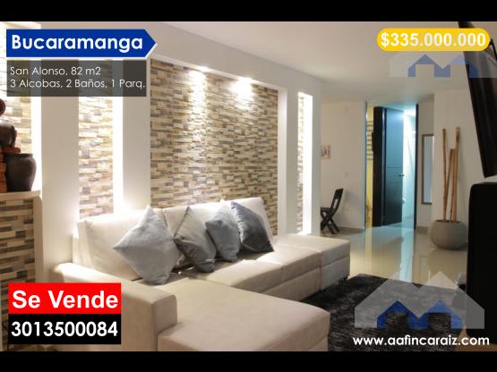 Vendo Apartamento Amoblado San Alonso, Bucaramanga
