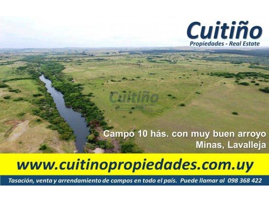 Campo 10 has. muy buen arroyo Minas Lavalleja