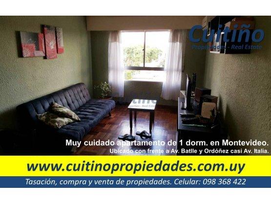 Apartamento en venta Montevideo. 1 dorm. al frente